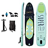 Framy Stand Up Paddling Sup Board 370 ×80×15cm 465 Pound Load Capacity Adjustable Inflatable 6 Inches Thick Surfboard Set, Unisex,370 * 82 * 15CM