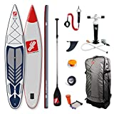 Grandtoursports*com - Tabla de remo y remo, 77 x 396 x 15 cm, 350 l hasta 110 kg, inflable SUP SUP Stand Up Paddling Board GTS SPORTSTOURER 13.0 NBG, incluye set de accesorios