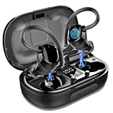 Auriculares Inalambricos Deportivos, Auriculares Bluetooth 5.0 Sport IP7 Impermeable Cascos Bluetooth In-Ear Auriculares Wireless Running con Mic, 100 Horas y Pantalla LED, Viajes, Deporte